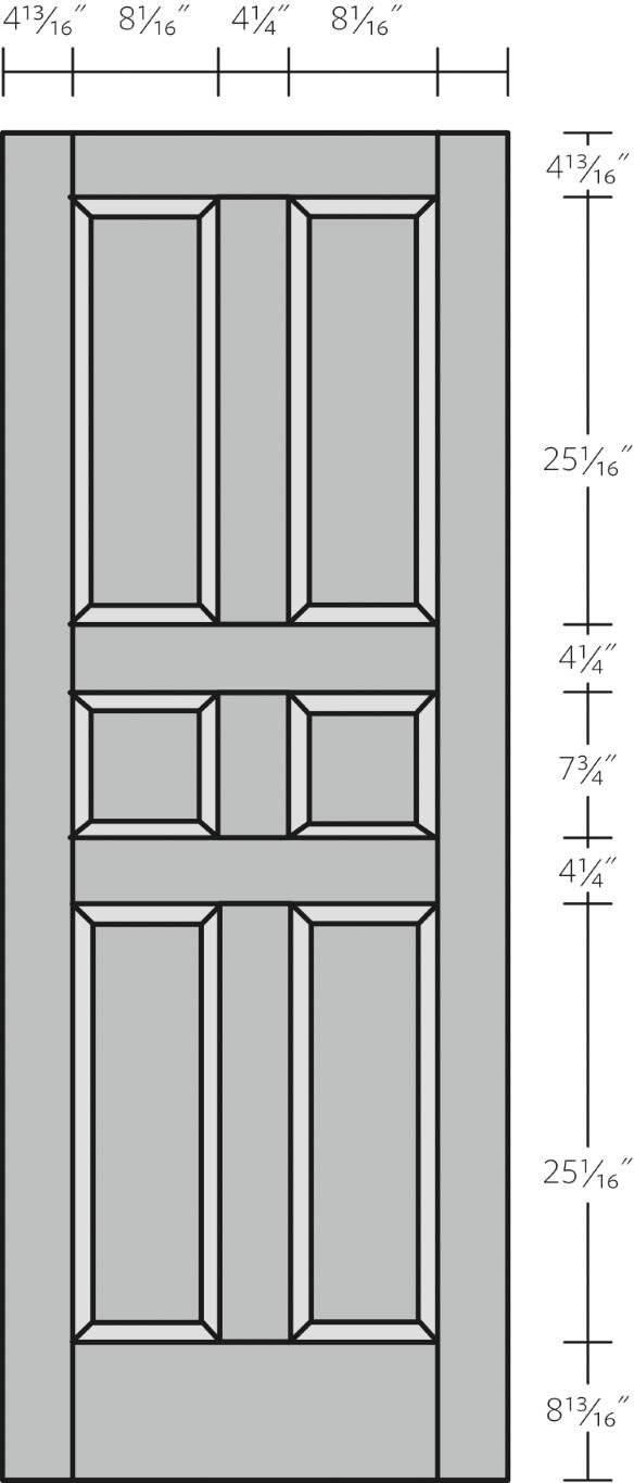 6 Panel Door [alternate]